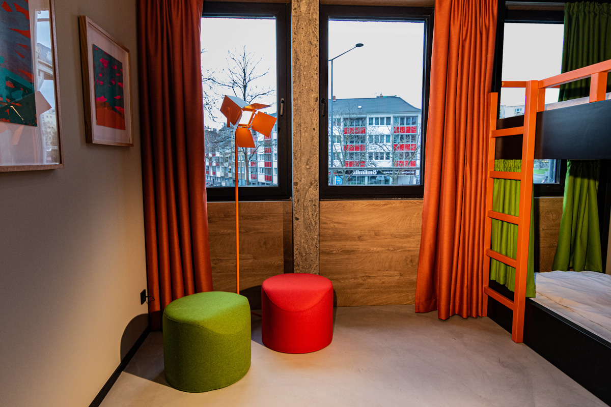 Social Club Rooms at Koncept Hotel International in Cologne, Germany